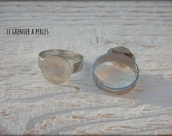 Support ring silver 12 mm
