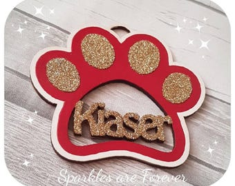 Personalised Pet Paw print Decoration and Plaque/sign