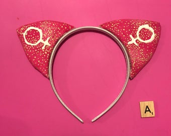 Pink, Feminist Cat Ears - FOR CHARITY