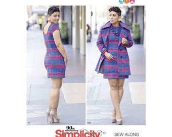 Simplicity Pattern 8451 Mimi G Misses' Dress and Lined Coat