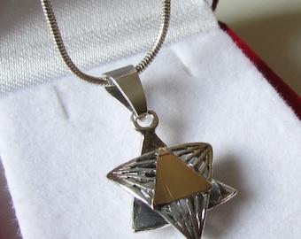 Mother's day jewelry, Jewish jewelry, Magen david necklace, Silver gold jewish star, Star of david Necklace, Jewish star necklace