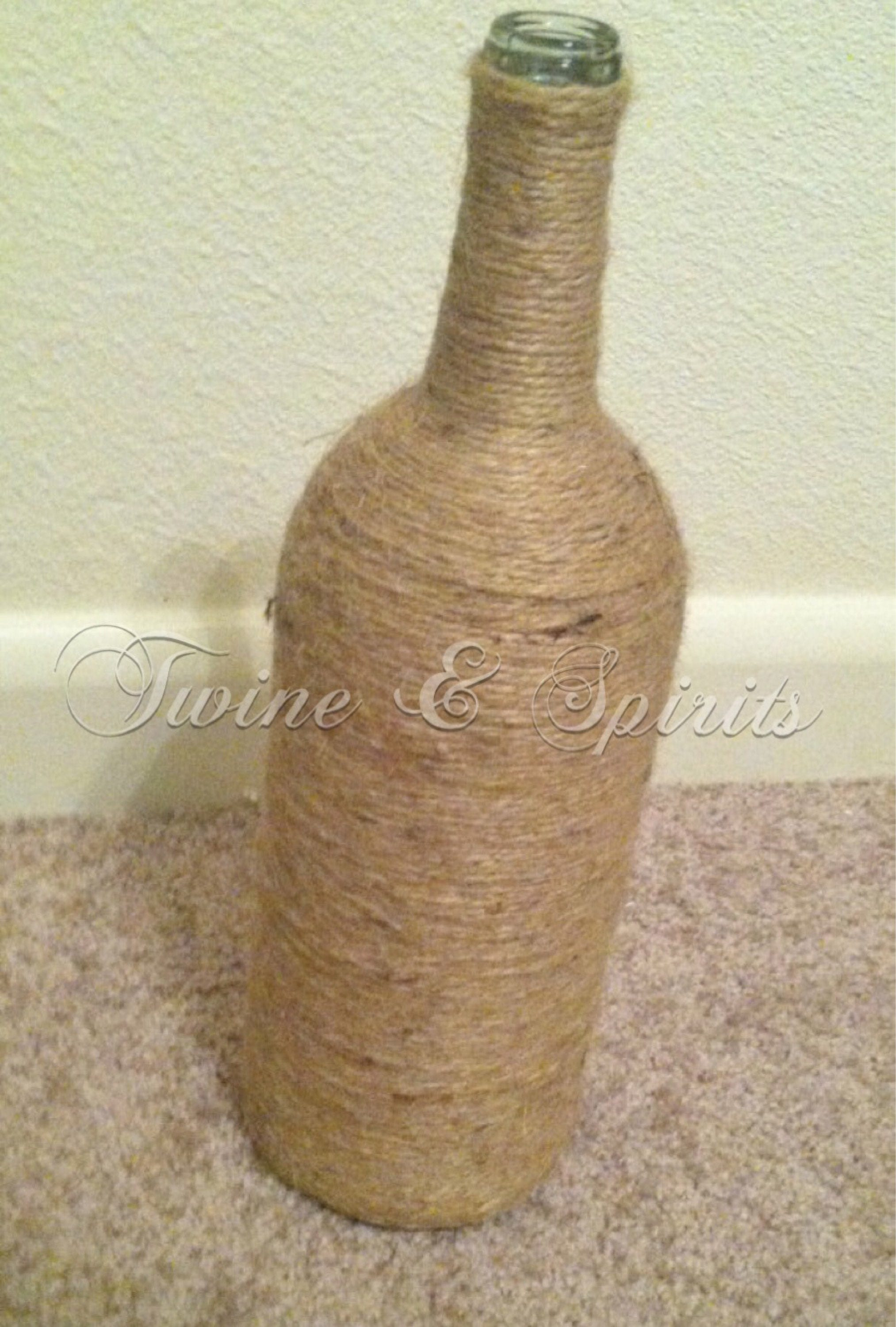 """Twine"" Wrapped Wine Bottle 