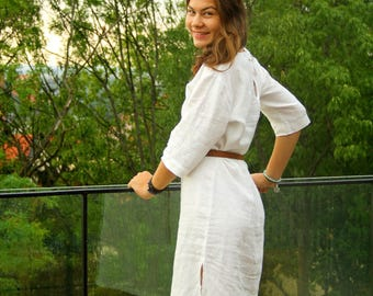 BIELKA - Linen dresses for young ladies 100% flax