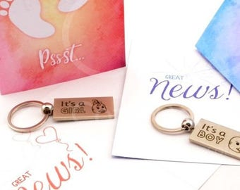 newborn girl boy, birth announcement, baby boy girl annoucement, baby shower gift, engraved keychain, grandparents gift, family keepsake