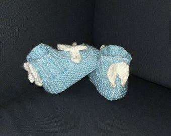 Angel wing booties, newborn gift, angel baby, miracle baby shoes, easter booties, baby keepsake, easter angel, premature baby gift