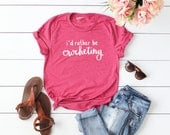 I'd Rather Be Crocheting Heather Raspberry T-Shirt - Crochet Tee - Crochet Lovers Tee - Crocheting T-Shirt