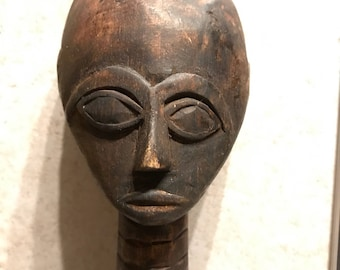 Wood Carved Figural Decor// African Figural Decor