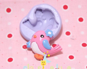 Kawaii bird 28/32 mm silicone mold