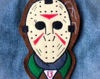 Jason Voorhees Handmade Embroidered Back Patch