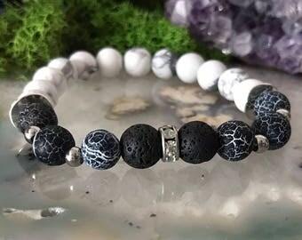 Lava stone Bracelet | Diffuser Bracelet | Essential Oil Beads | Stretch Bracelet | Agate Bracelet | Essential Oils Bracelet | Aromatherapy