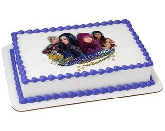 Descendants Wickedly Cool Edible Cake or Cupcake Toppers - Choose Your Size