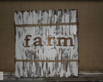 Whitewashed Wood Sign / Farm Sign / Farmhouse Wood Sign / Country Decor / Rustic Wood Sign / Farmhouse Home Decor / Rustic Decor / Farm