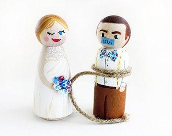 Cake topper wedding humorous / Cake topper wedding humor / cake wedding figurine / Personalized wedding subject - To customize