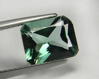 10x8 mm. Hand Cut Princess Paraiba Green Tourmaline loose gem
