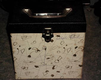 Vintage 45 RPM Record Case - Vinyl Storage