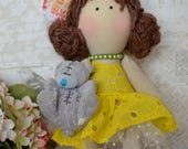 Emily Handmade collectable Lindy doll toy Russian dolls hand stitched personalise cloth craft