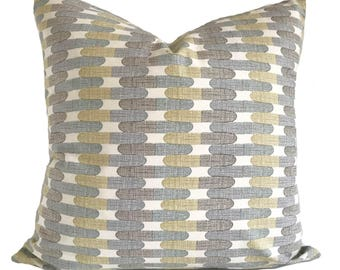 Pillow cover, 20x20, Throw pillow, Decorative pillow, Accent pillow, Couch cushion, Sofa cushion, Cushion cover, Gold pillow, Taupe pillow
