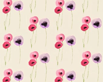Sanderson Poppies Pink & Lilac Curtains Made to Measure