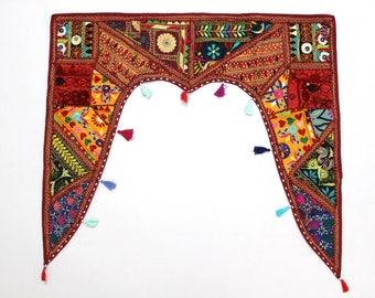 Handmade Window Door Valance Interior Decor Ethnic Gypsy Hippy Hippie Toran Pelmet Topper Drapery Top Hanging Tent Bohemian Art L896