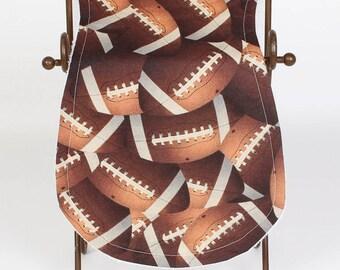 Football Pattern Burp Cloth