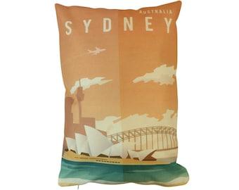 Sydney | Adventure Time | Pillow Cover | Wanderlust | Throw Pillow | Travel Pillow | Home Decor | 12 x 18 Pillow | Adventure Awaits