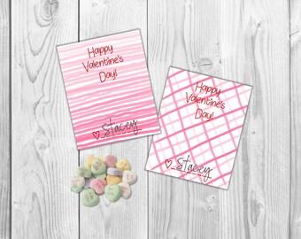 Printable School Valentines- Happy Valentines Day, Kids Valentines, Printable Valentine, Valentine's Card