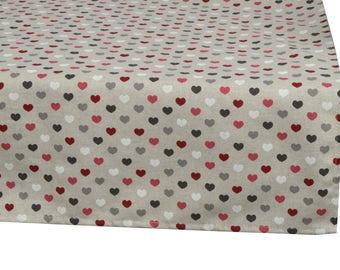"Square tablecloth fabric 150X150cm ""Valentine"""