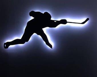Ice Hockey Slap Shot LED Sign