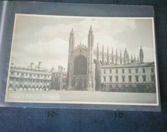 Vintage postcard of King's College Chapel, Cambridge