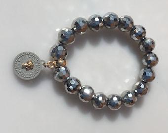 Bracelet silver beads