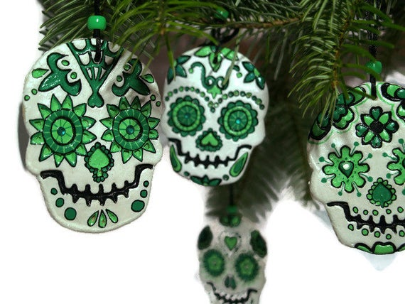 Sugar Skull-Day Of The Dead-Christmas Tree Decorations-Sugar