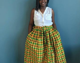 new African clothing, African skirt, african skirts, ankara skirt, ankara, african maxi skirt, african print skirt, ankara, ms alaba, Yellow