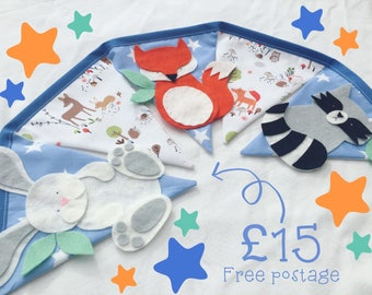 Woodland theme nursery bunting decoration