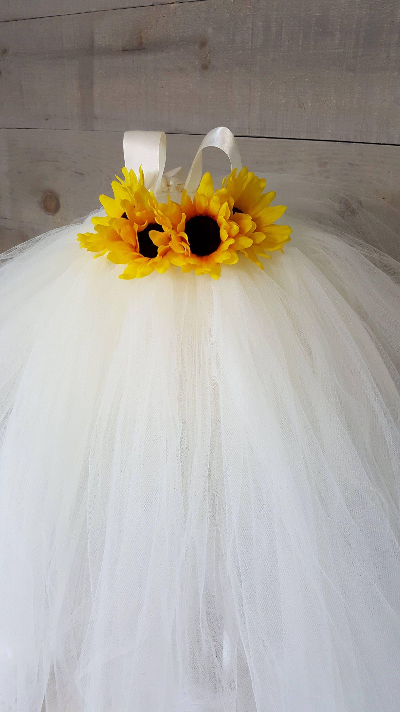 Ivory flower girl dress sunflower tutu dress autumn wedding dress ivory flower girl dress sunflower tutu dress autumn wedding dress fall tutu dress mightylinksfo