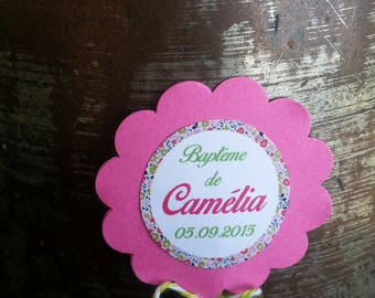 10 cake Toppers floral theme