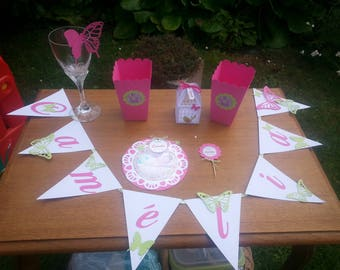 paper Garland Bunting theme tie