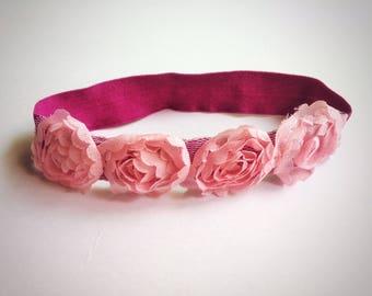 Elastic Cat Collar Pink Roses Floral Pet Necklace Unique Handmade Pet Accessories