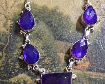Holiday SALE 85 % OFF Mystic Topaz Necklace  .925 Sterling  Silver  Gemstone