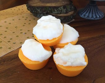 Pumpkin Marshmallow Wax Melts Wax Brittle Handmade Soy Vegan Highly Scented Wax Tarts Wax Melt Stocking Stuffer Christmas Gifts