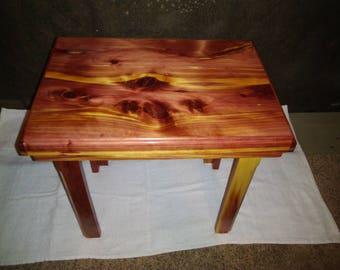 Small Handmade Cedar End Table / Side Table