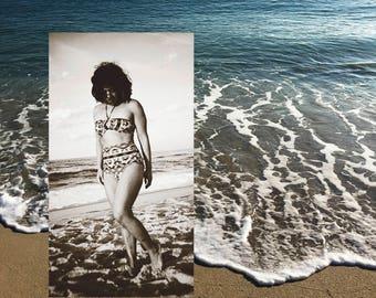 LANA Bandeau Halter Bikini Top and MAILE High Waist Bikini Bottom