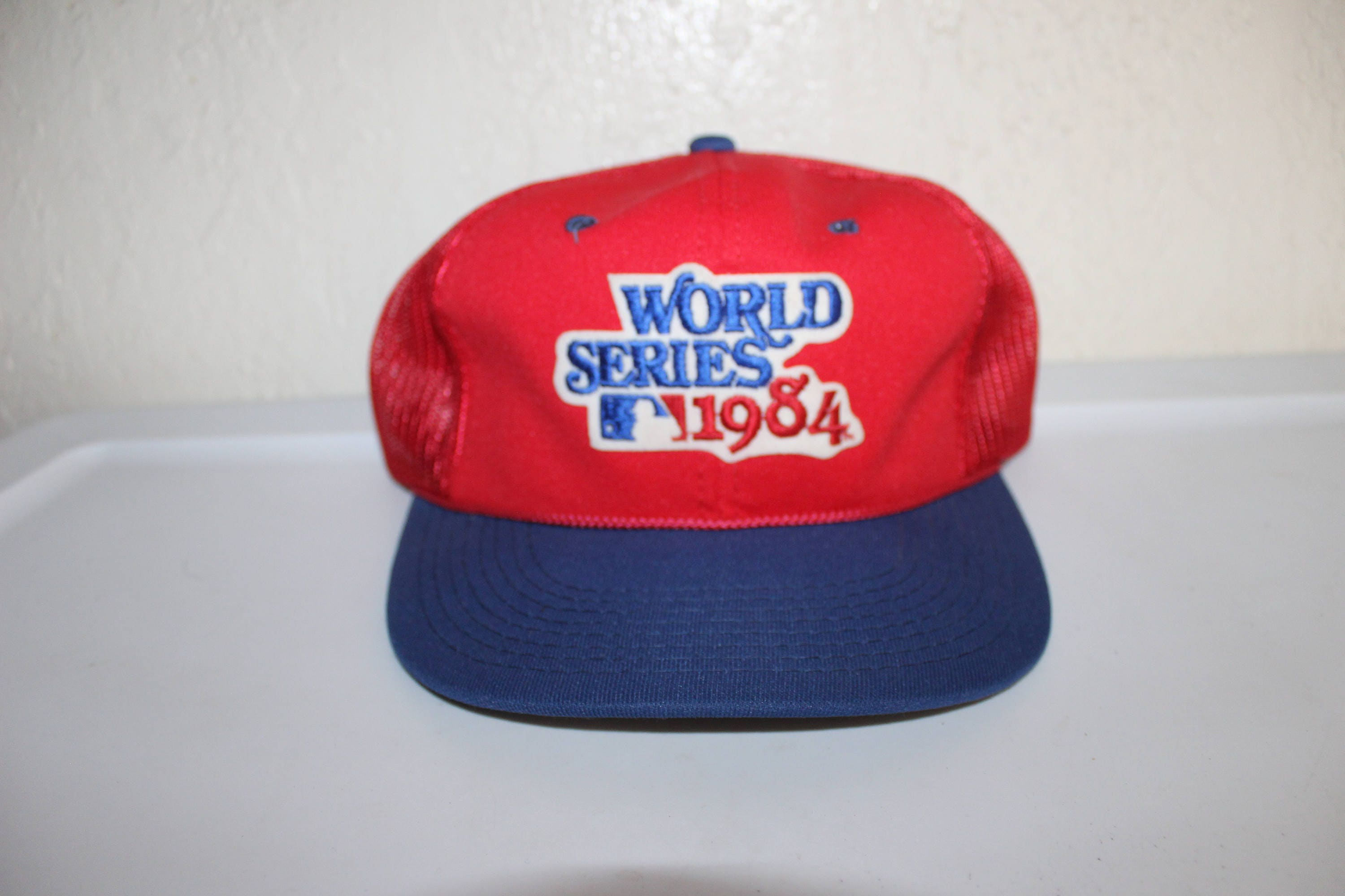 6b82a2745f3 Vintage 1984 World Series Meshback Snapback by Sports Specialties