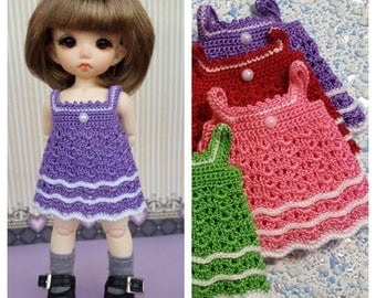Crotched dress for  Pukifee (purple)