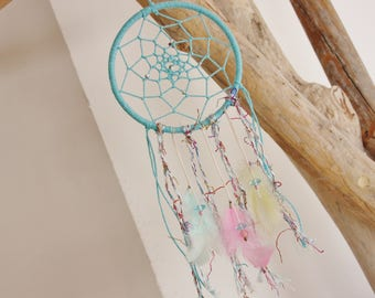 "Dream catcher ""My little happiness"" turquoise & pastels"