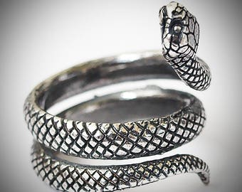 Snake ring, Snake jewelry, Snake rings, Snakes, Silver plated brass, Fashion rings, Reptile ring, Fashion ring, Women rings, Snake