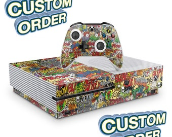 Custom Controller and Console Vinyl Skin Wrap Decal Sticker Wrapping Film Pattern Video Games Gaming Car-Film Xbox One Game