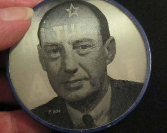 ADLAI STEVENSON Winking Flasher Political Campaign Button Democratic Pinback