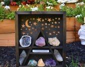 Scenery Box - Mountain, Moon & Stars Scene