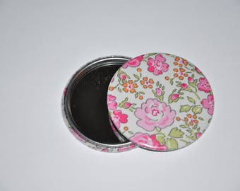 Mirror 59 mm fabric liberty of London Felicite pink 23