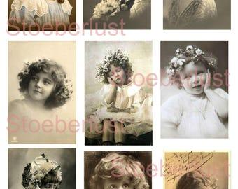 9 x  Labels,  vintage children so sweet instant download digital sheet